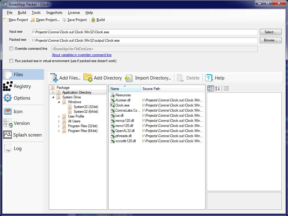 Pack Corona-built Win32 desktop app into a single executable file